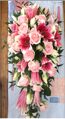 Brides Bouquet made in Pink shade at Chennai.