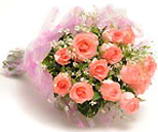 Pink roses Bouquet for Chennai delivery.
